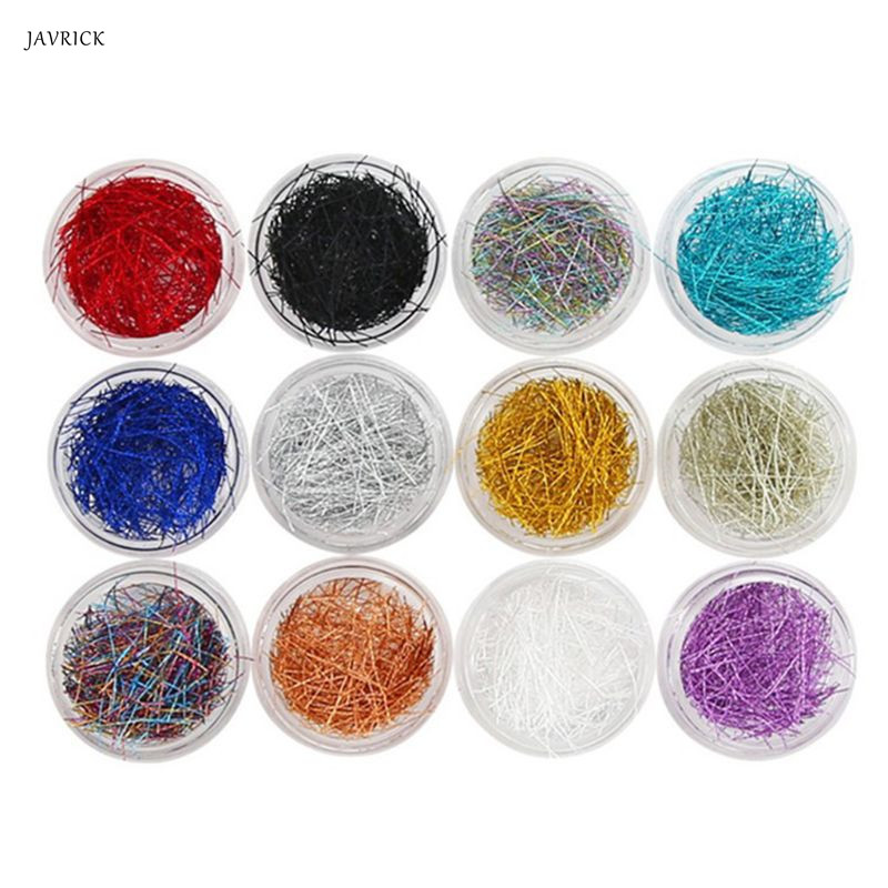 12 Pcs/set Mixed Color Grid Thin Line Metal Wire Epoxy Filling Material Mold Crafts Making For Mini New Nail Art DIY Jewelry