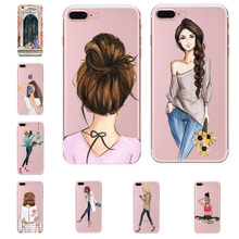 Soft Phone Cover For Coque iphone XS max Case Dress Girl Pri