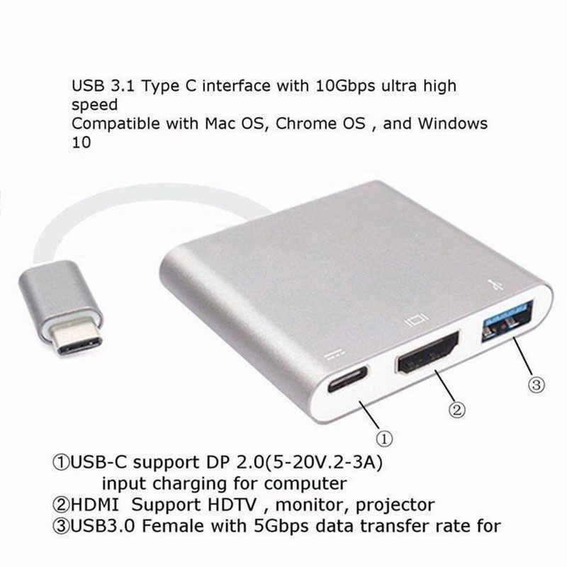 USB C ハブ HDMI アダプタ Macbook Pro の/空気サンダーボルト 3 Usb タイプ C ハブ HDMI 4 56K の USB 3.0 ポート USB-C 電力供給
