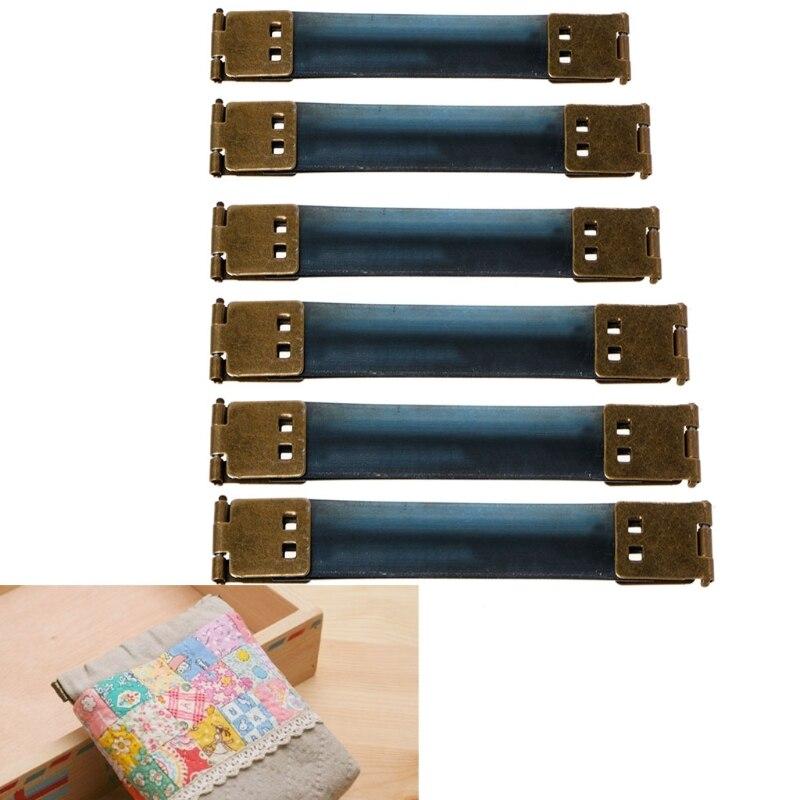 Porte-monnaie interne en métal cadre baiser fermoir caché Snap bricolage sac accessoire 8-15cm M5TE