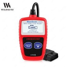 MS309 OBD2 сканер-считыватель кодов для автомобиля MS 309 автоматический диагностический инструмент OBD 2 Автомобильный диагностический считыватель кода двигателя Новая версия ELM327 OBD