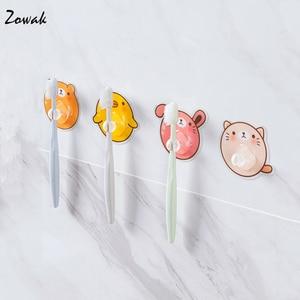 Image 3 - 4 adet diş fırçası tutucu şeffaf seyahat standı tuvalet tıraş organizatör çocuk diş fırçası depolama raf banyo aksesuarları Panda