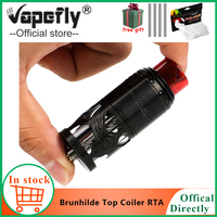 In stock E Cigarette Vape Vapefly Brunhilde Top Coiler RTA Tank 8ml/2ml W Surrounding Top Airflow Dual Coil vs galaxies MTL RDTA
