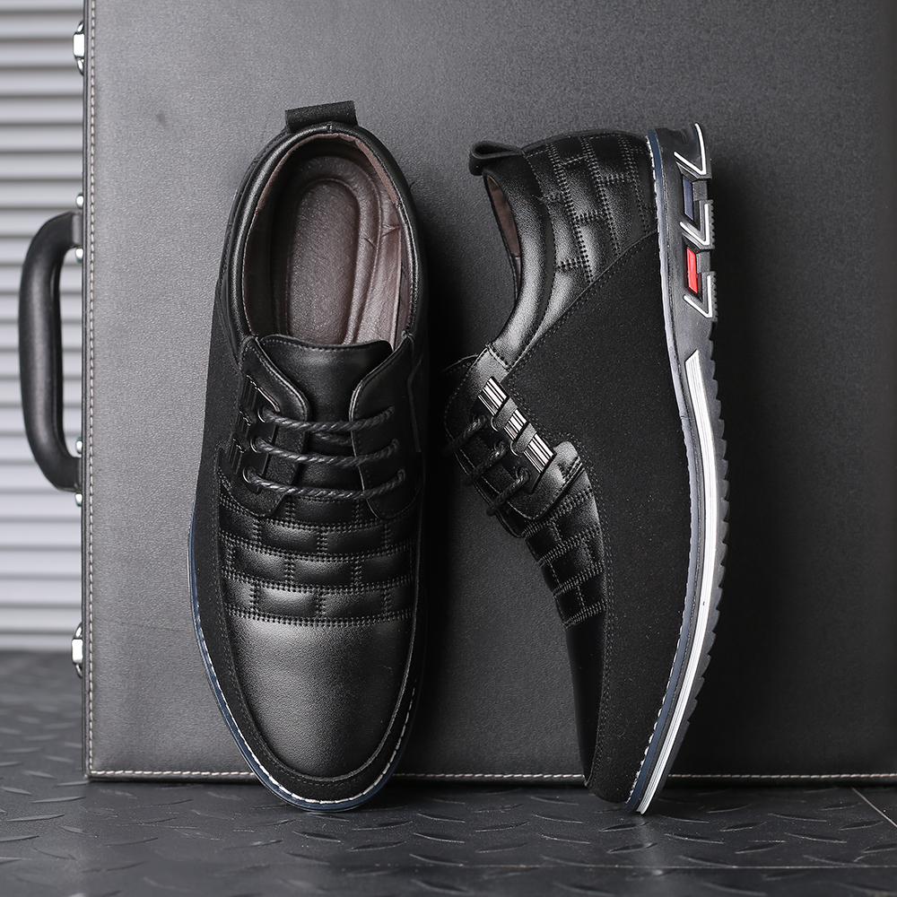 H441521eead7e4c28837c8d54833bfe5cc 2019 New Big Size 38-48 Oxfords Leather Men Shoes Fashion Casual Slip On Formal Business Wedding Dress Shoes Men Drop Shipping