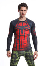 Spiderman T Shirt Fitness Apparel Quick Dry Workout Clothes Avengers Men Long Sleeve Tops Gyms Running Bodybuilding Sportswear new workout clothes cotton rise gyms t shirts mens short sleeve t shirt muscle gyms fitness clothing bodybuilding tops camisetas