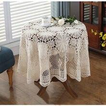 Super elegante capas de mesa nordic pastoral rendas toalha de mesa crochê toalha de mesa quadrada jantar guardanapos de mesa de natal venda