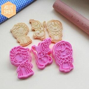 3D резак для печенья из мультфильма «Холодное сердце», Дисней, инструмент для выпечки, вечерние принадлежности для украшения, десертное пече...
