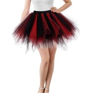 Image 4 - Women Skirts Tutu Princess Fashion Ballet Black Tutu Fluffy Skirt for Women Tulle Petticoat Skirts Elastic Adult Pink Tutu Skirt