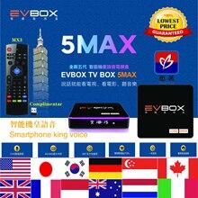 2021 최신 EVBOX 5MAX 음성 제어 AI 지능형 안드로이드 TV 박스 대만 버전 EVPad 4G 64G 6K 5GWIFI 블루투스 4.2 무료 chan