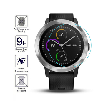 For Garmin Vivoactive 3 Watch Tempered Glass Film HD Scratch-resistant Tempered Film Adamant Watch Tempered Film image