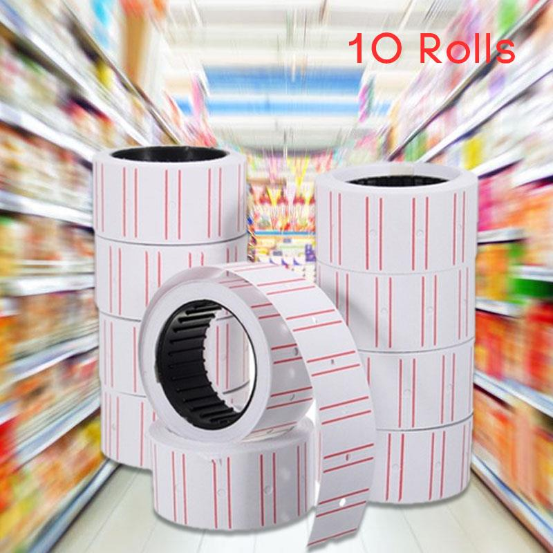 Monarch 1131 Price Gun Paper For MX-5500 Label 10 Rolls White Box Box Labels For White Boxes Glue Sticks Bulk Sticker Mark Tag