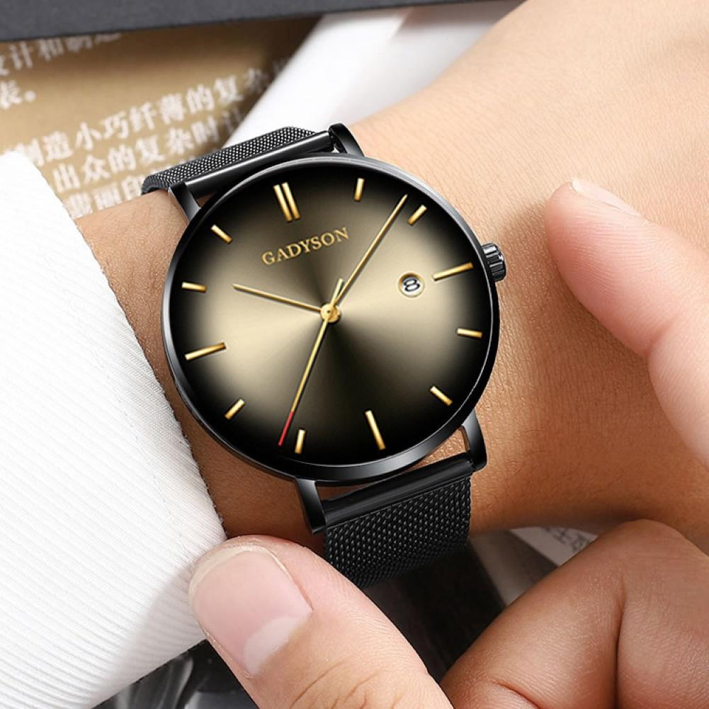 Men Watch New Fashion Contrast Pointer Quartz Concept Cat Eye Gradient Men Watch Erkek Kol Saat Reloj Mujer