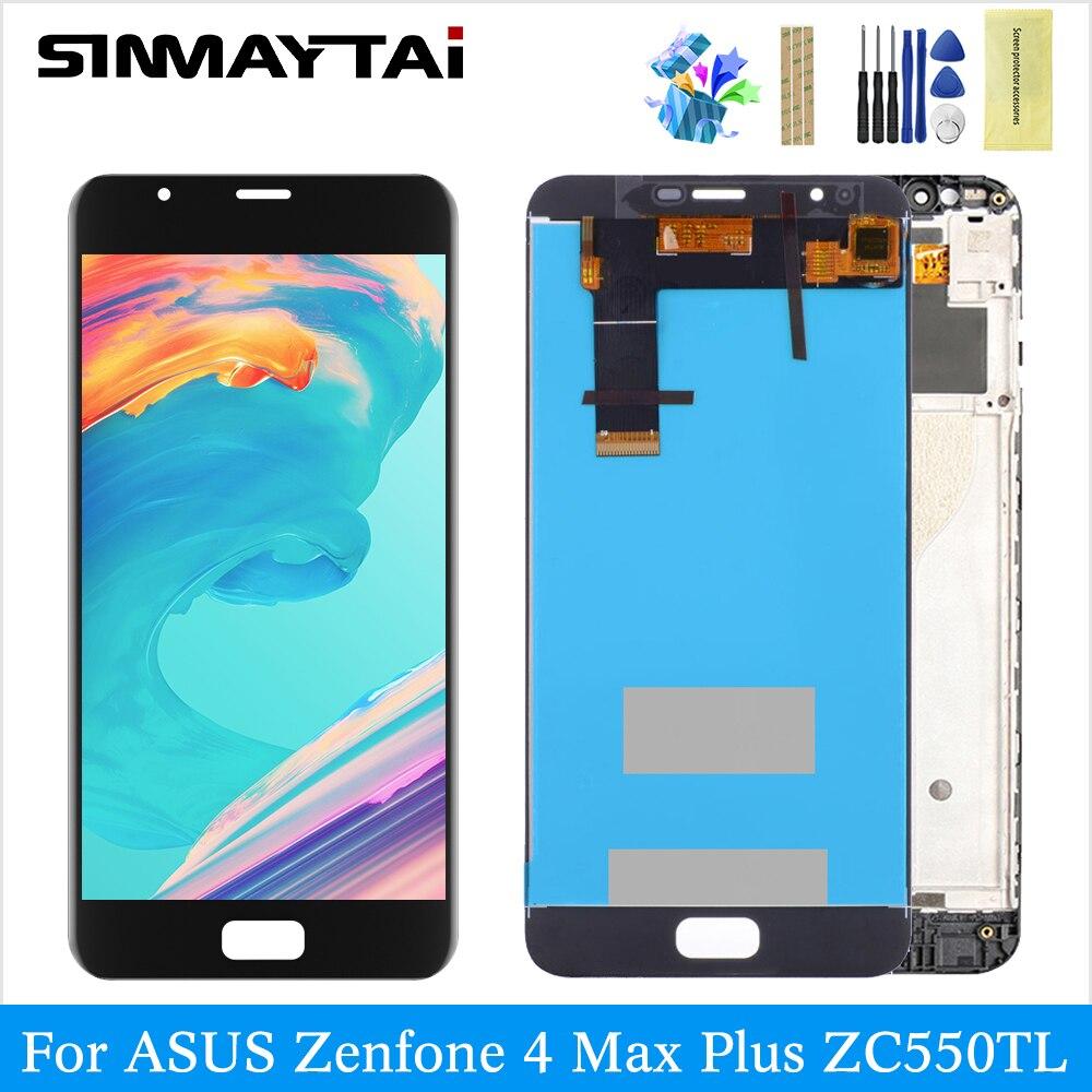ZC550TL LCD pour ASUS ZenFone 4 Max Plus ZC550TL X015D numériseur assemblée écran tactile pièces de rechange noir X015D écran lcd