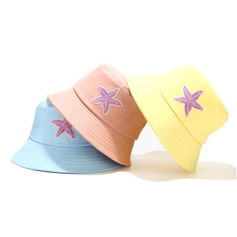 Панама женская с вышивкой, модная Панама с морскими звездами, шляпа от солнца в уличном стиле, Пляжный головной убор