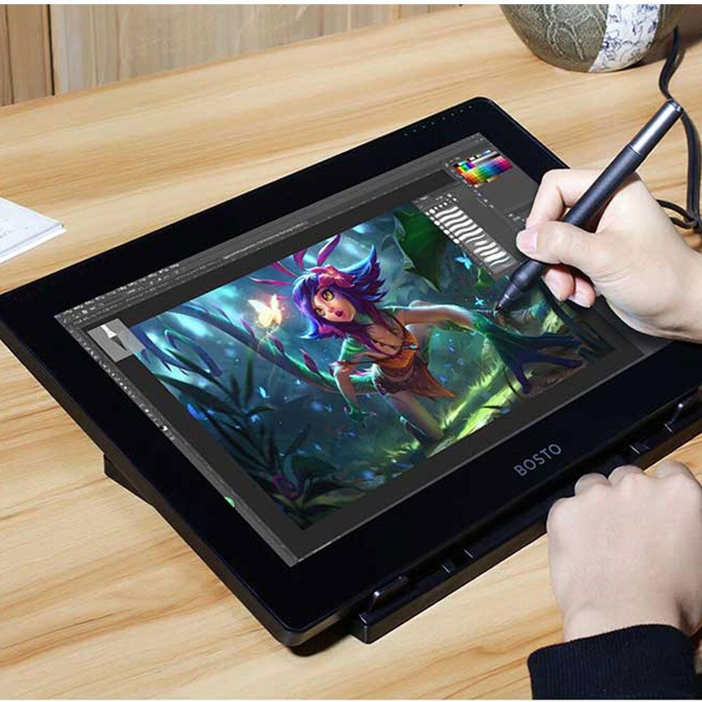 Bosto nouveau dessin numérique tablette moniteur stylo numérique Pad graphiques pour tablettes Usb Signature écriture Pc Art Design tablette graphique