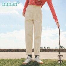 INMAN Autumn Winter Harlan Lazy Pants Loose Korean Style Literary Bud Waist Cotton Casual Pants