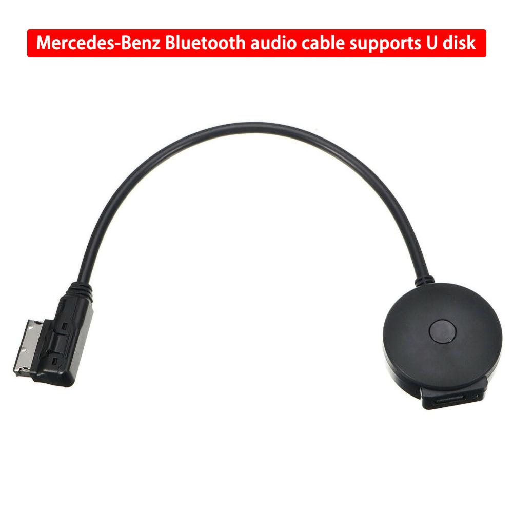 Black Interface Wireless Bluetooth Music Adapter For AUX Cable Mercedes-Benz MMI