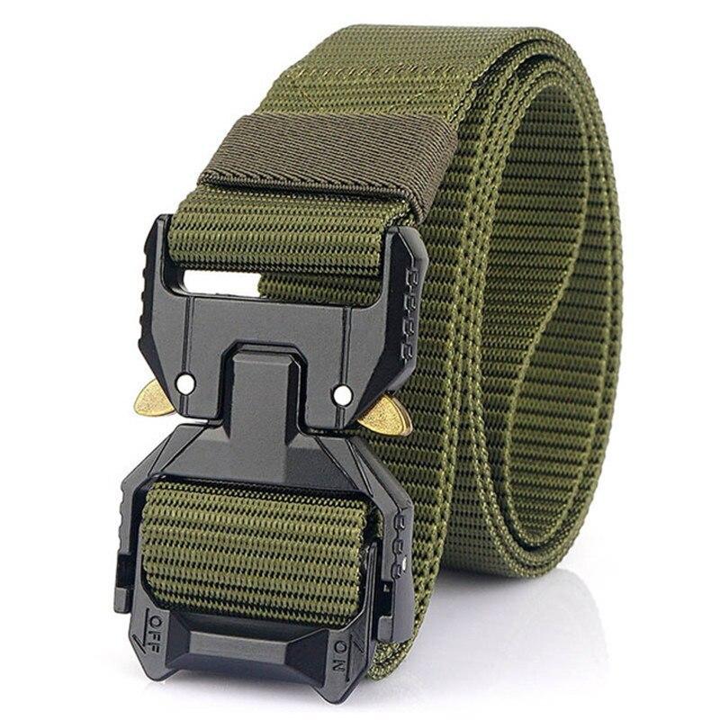 NEW Men' Tactical Belt Hard Alloy Quickly Unlock Pluggable Buckle 1200D Nylon Military Army Belt Tactical Equipment