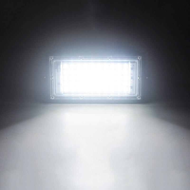 Foco LED combinado Luz de inundación 220V 50W proyector de foco de jardín al aire libre Reflector LED iluminación farola impermeable IP65