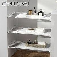 Organizador de armario ajustable, estante de almacenamiento para ahorro de espacio, estante montado en la pared, soportes decorativos para el hogar y la cocina