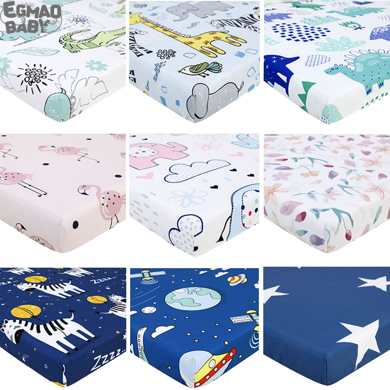 Newborn Baby Fitted Crib Sheet For Standard Crib And Toddler Mattresses Cover Elephant Dinosaur For Unisex Boys And Girs