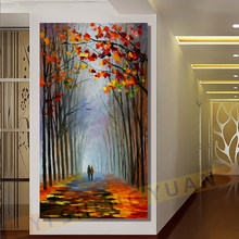 Pinturas de arte da parede pintados à mão moderna grande coloração abstrata faca pintura a óleo sobre tela imagem para sala estar decoração casa