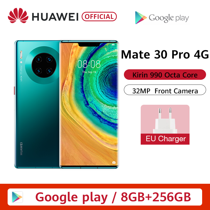 Global Version HUAWEI Mate 30 Pro 8GB 256GB Smartphone 40MP Triple Cameras 32MP Front Camera 6.53'' Screen Kirin 990 Mate 30 Pro