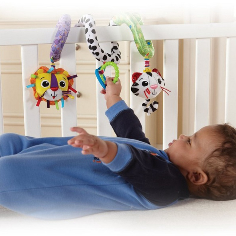 NEW Crib Hanging Animal Rattle Baby Stroller Hanging Toys Baby Lathe Hanging Ring Teether Stuffed Doll 1PC