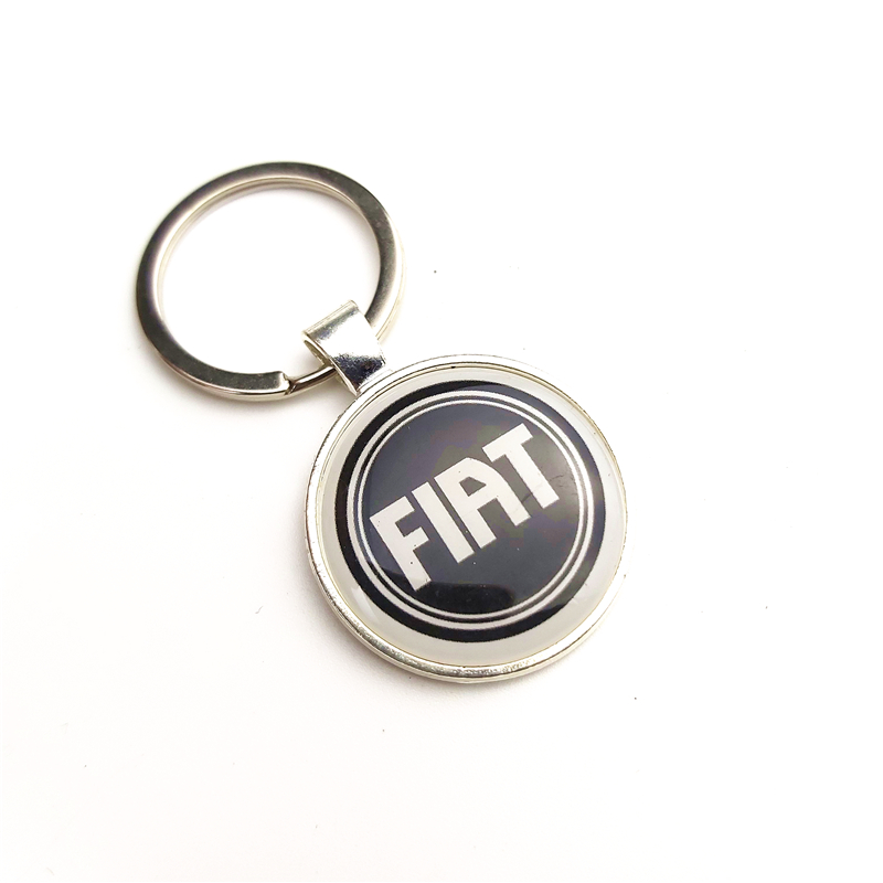 New Car Keyrings Car Styling Case For Fiat Panda Bravo Punto Linea Croma 500 595 Car-Styling Badge Accessories 1pcs