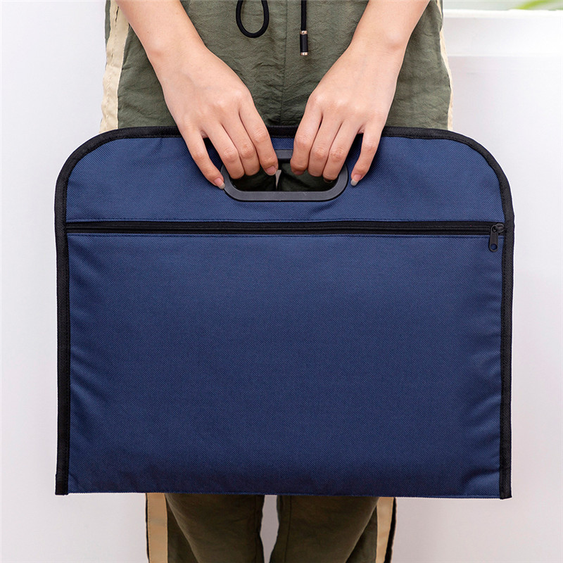 Portable Men Briefcases Waterproof Canvas Big A4 Document Bags Double Layers Book File Women Handbags Conference Information Bag