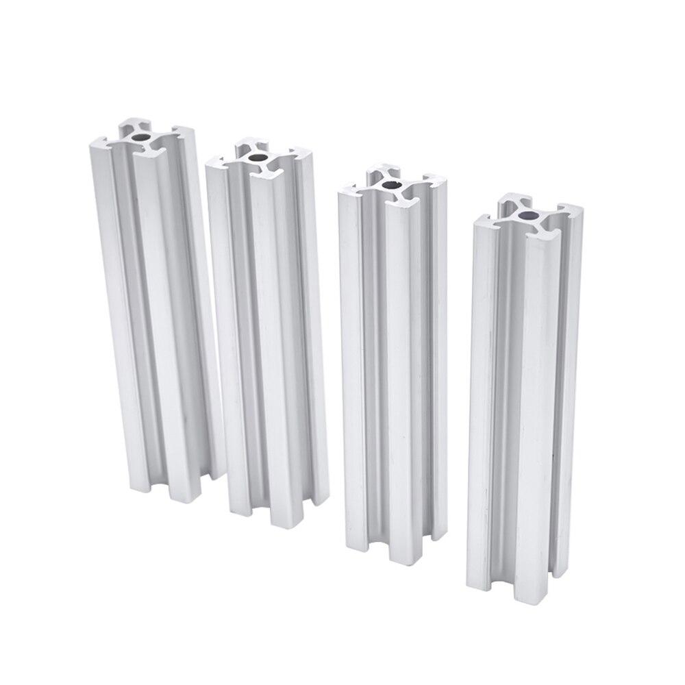 Extrusión de perfil de aluminio para impresora 3D, carril lineal de 2020mm a 100mm de longitud, 600mm, 200mm, 400mm, CNC, 4 unidades por lote