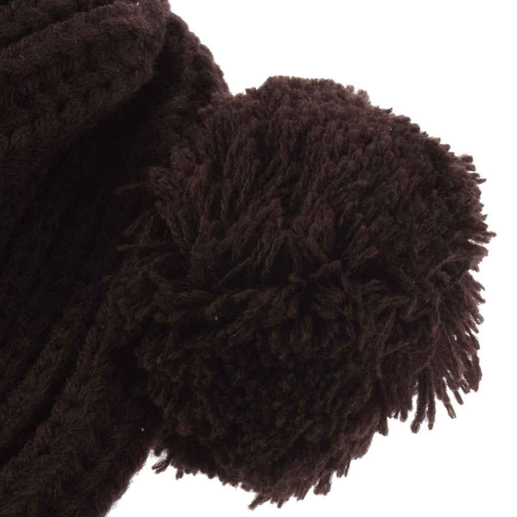 Outad 겨울 아기 모자 만화 스타일 크로 셰 뜨개질 니트 스웨터 모자 유아 소년 소녀 패션 두꺼운 따뜻한 모자 모자 새 판매
