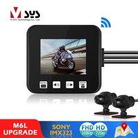 SYS VSYS M6L P6L WiFi moto DVR Dash Cam Full HD 1080P 720P vista posteriore anteriore telecamera per moto impermeabile scatola registratore nera