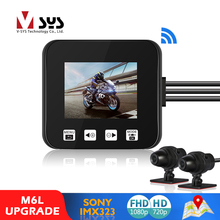 Motorcycle DVR Recorder-Box Dash-Cam SYS Wifi Black P6L Rear-View Waterproof Front Full-Hd