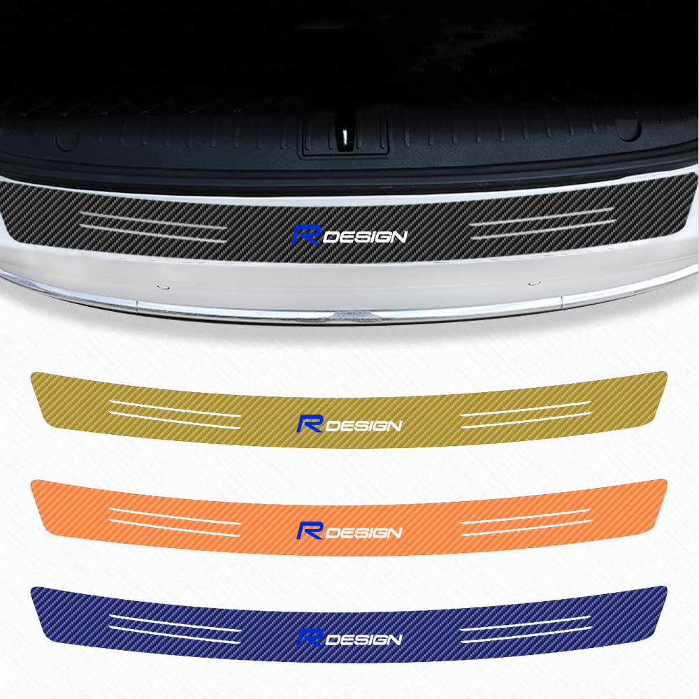 Car Trunk Guard Carbon Fiber Protector Sticker For <font><b>Volvo</b></font> R DESIGN XC90 S60 CX60 V70 S80 V40 <font><b>V50</b></font> S40 Car <font><b>styling</b></font> Accessories image