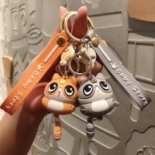 Doll-Accessories Backpack Pendant Phone-Lanyard Couple Gift Kawaii Keychain Girl Creative