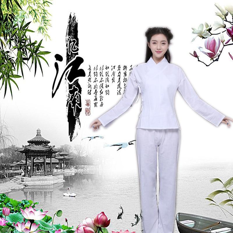 Chinese Ancient Pajamas Hanfu Suit Ladies Classical Traditional Chinese Dance Costumes Tang Dynasties Pajamas Set Tops + Pants