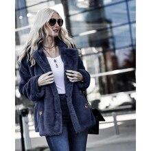 OEAK Winter Thick Warm Women Fleece Cardigan Coat 2019 Open Front Notched Collar Solid Casual Streetwear Jacket Outerwear недорого