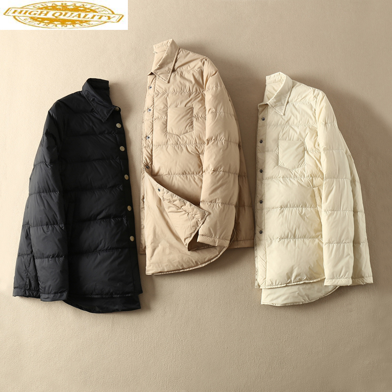 White Duck Down Jacket Women Autumn Winter Ultra Light Down Coat Female Korean Down Jackets Chaquetas Mujer 2020 KJ3598