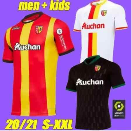 20 21 Rc Lens Soccer Jerseys Maillot De Foot Fofana Ganago Kakuta Gradit Fortes Perez 2020 2021 Home Away Third Men Kids Kit Foo T Shirts Aliexpress