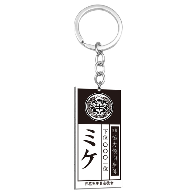 Anime kakegurui compulsivo jogador colar jabami yumeko id cartão acrílico pingente colares cosplay jóias