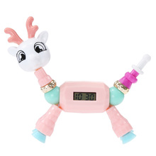 DIY Charm Dress Clock String Of Beads Cartoon Pony Puppy Bracelet Magic Children Toys Elect