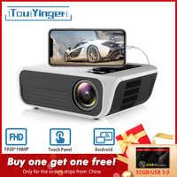 Touyinger L7 светодиодный проектор 1080P full HD мини бренды USB проектор 4500 люмен Android 7,1 wifi Bluetooth Домашний кинотеатр HDMI