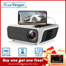 Touyinger l7 led nativo 1080 p projetor completo hd mini marcas usb beamer 4500 lumens android 7.1 wifi bluetooth cinema em casa hdmi(China)