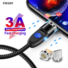 1m 3A Magnetic Micro USB Charger Cable Type C Charging Data Wire For iPhone X XR Oneplus 6T Samsung s9 Mobile Phone Cables Wire magnetic cable micro usb charger type c charging wire for iphone x xr 8 7 6 oneplus 6t samsung s9 s8 microusb cord mobile phone
