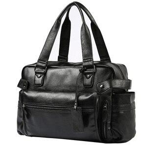 Image 3 - 2020 ผู้ชายกระเป๋าไหล่Crossbodyกระเป๋าถือหนังผู้ชายกระเป๋าเดินทางกระเป๋าRetro Retroสไตล์Crossbody