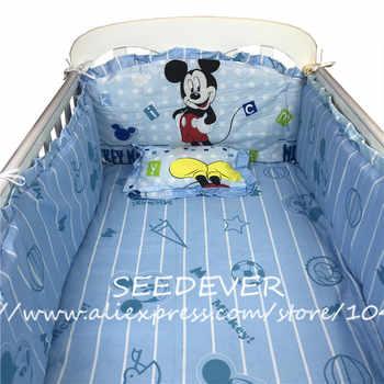 Newborn baby bedding set cotton crib bumpers pillow cot mattress pad back cushion filler children\'s bed linen cartoon