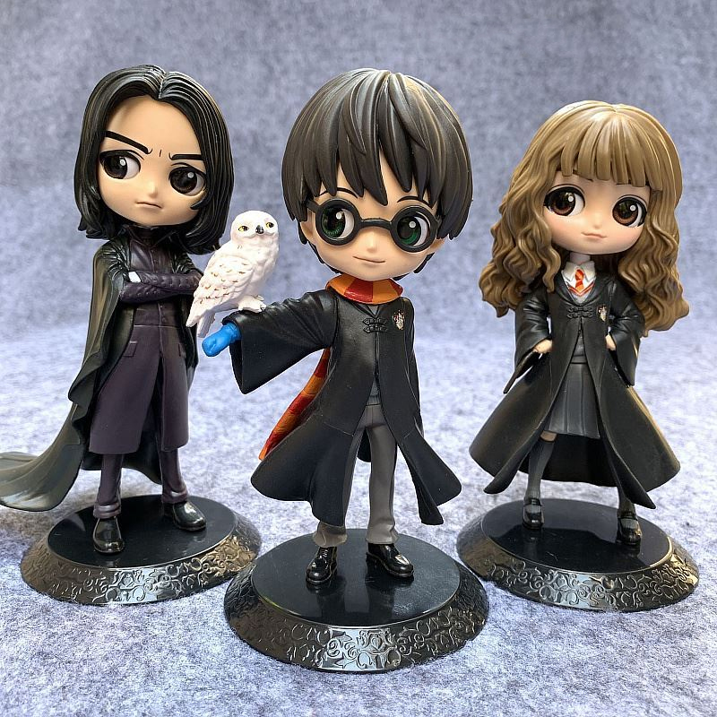 HOT Bandai Q Posket Big Eyes Harried Hermione Snape PVC Anime Dolls Collectible Potter Action Figure Q Version Model Toy
