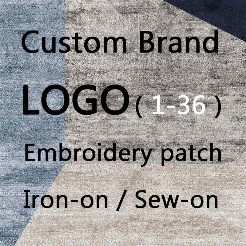 Trend Brand LOGO 1-36 Custom Embroidery Patch With Adhesive For Ironing, Stitch Reinforcement