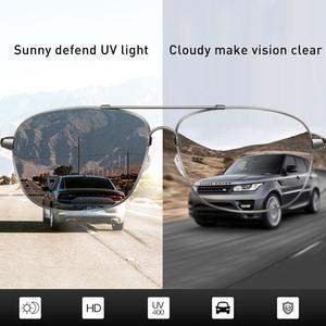 Image 5 - Очки солнцезащитные CAPONI мужские фотохромные, квадратные поляризационные, винтажные, из сплава, для вождения, UV400, BS10001